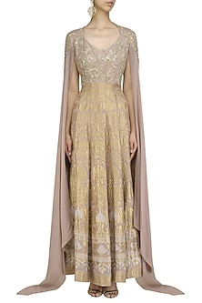Toosh Dabka Embroidered Anarkali Set by Gaurav Gupta
