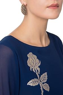 Gold Plated Kairi Shaped American Diamond Earrings