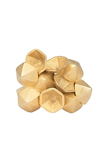 Gold Plated 3D Yellow Flower Tumble Ring by Gauri Himatsingka