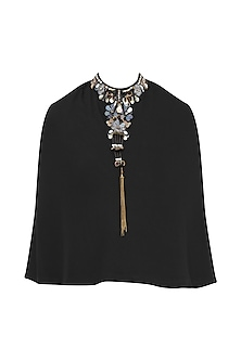 Black Embroidered Cape by Gunu Sahni