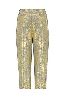 Gold Culotte Pants by Gunu Sahni