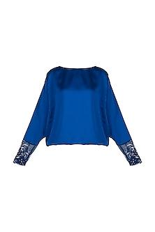 Blue embellished top