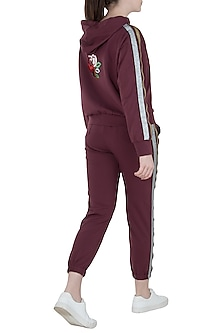 Wine metallic tracksuit