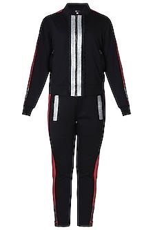 Black jacket tracksuit