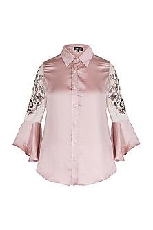 Blush embroidered shirt