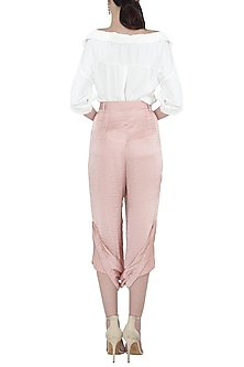 Blush drape pants