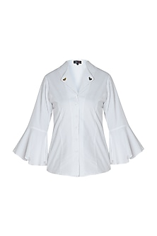 White embellished shirt by GUNU SAHNI