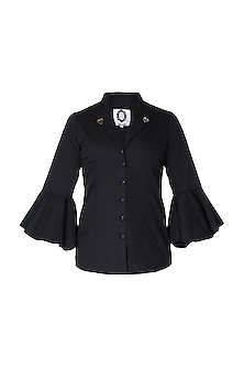 Black embellished shirt