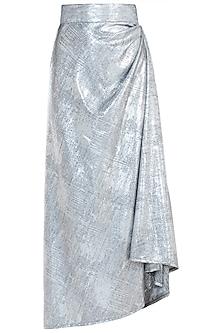 Silver drape skirt