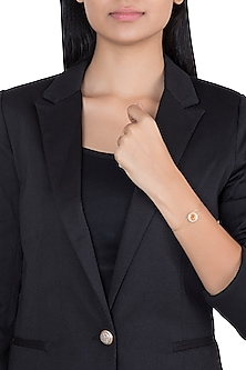 14Kt Gold Svadhishthana Diamond Adjustable Bracelet by Golden Gazelle Fine Jewellery