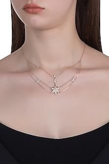 14Kt Rose Gold Supernova Choker Diamond Necklace by Golden Gazelle Fine Jewellery