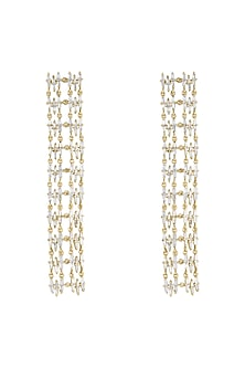 14Kt Gold Cascading Sparkle Diamond Earrings by Golden Gazelle Fine Jewellery