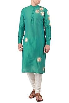 Green Embroidered Kurta by Gaurav Katta