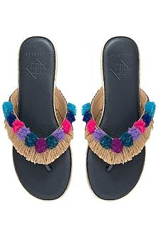 Multi-Coloured Pom Pom Sandals by Gush