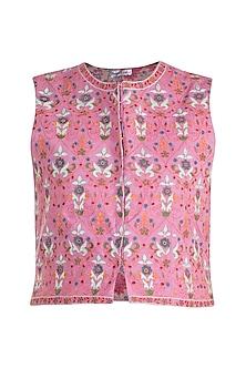 Pink Embroidered Jacket by Gazal Mishra