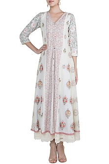 Multi Colored Embroidered Dress by Gazal Mishra