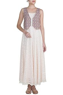 Pink Net Dress by Gazal Mishra