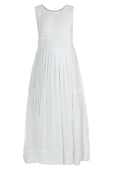 Off White Midi Dress by Gazal Mishra