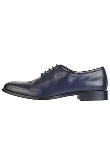 Black Single Cut Oxford Hand Painted Shoes by Harper Woods