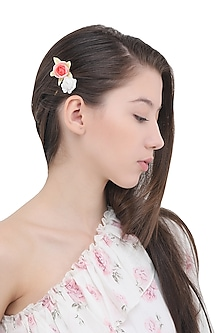 Set Of 3 Multi-Color Flower and Bug Motif Hair Pins by Hair Drama Company