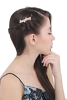 Coral Pink Geometric Hair Pin