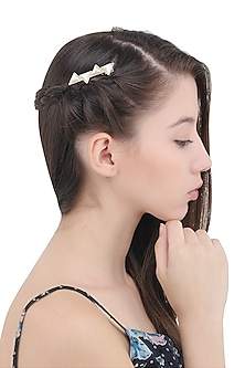 Grey Geometric Hair Pin