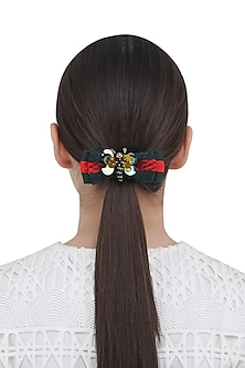 Multi-Colour Floral Motif Rubber Band by Hair Drama Company