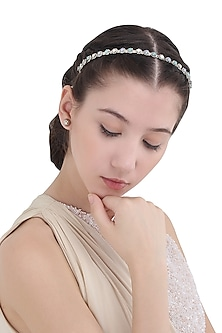 Silver Head Band with Multi-Colour Stones