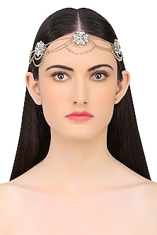 Golden and Black Crystal Multi Strand Floral Halo by Hair Drama Company