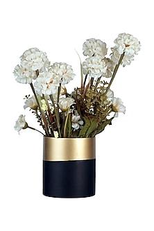 Black & Golden Glass Bi Banded Vase (Short) by H2H