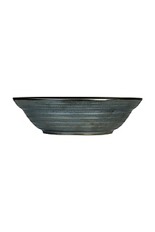 Charcoal Ceramic Serving Bowl by H2H