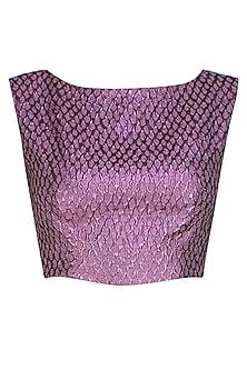 Purple french jacquard crop top