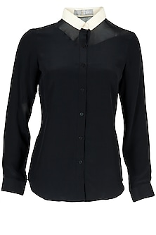 Black Panelled Shirt