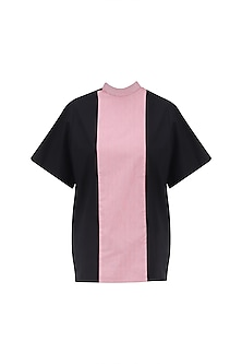 Pink and Black Panelled Gorilla Top