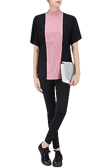 Pink and Black Panelled Gorilla Top by Huemn Project
