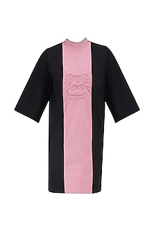 Pink and Black Panelled Gorilla Dress