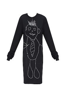 Black Boogeyman Doodle T Shirt Dress