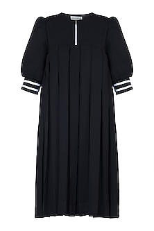 Black pleated dress by House of Behram