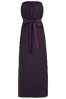 Deep plum tube maxi dress