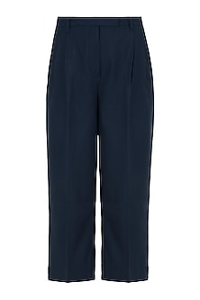 Navy Blue pleated trousers by House of Behram