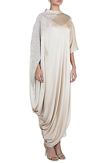 Beige Embroidered Turtle Dress With Inner by House of Milk