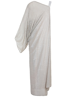 Beige Crinkled Maxi Dress by House of Milk