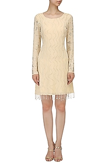 Ivory Embroidered Dress by Mishru