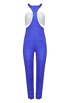 Moroccan Blue Racerfront Jumpsuit