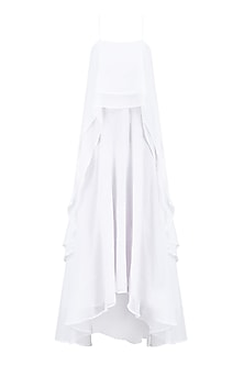 White Layered Long Strappy Dress