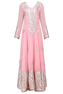Pink Gota Patti Embroidered Anarkali Set