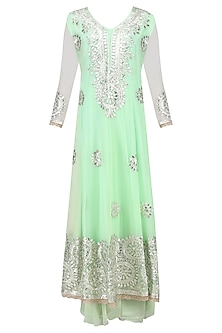 Light Green Gota Patti Embroidered Anarkali Set