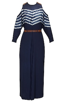 Ink Blue Shibori Maxi Dress
