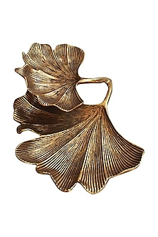Golden Double Leaf platters by Karo