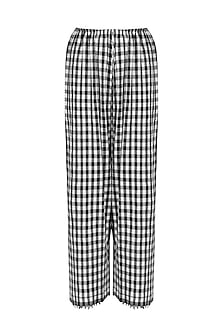 Black and White Gingham Check Pants